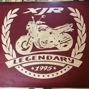 Elfen & Helden Holzschild 60×50 XJR Legend #4
