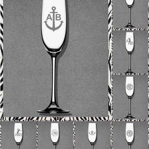 Elfen & Helden Gläser Sekt-Champagner mit Monogramm