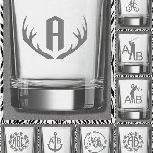 Elfen & Helden Gläser Whisky- Saft- Wasser Monogramm