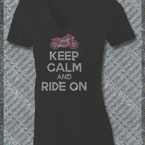 Elfen & Helden Shirt Damen Keep Calm and Ride on Halbarm