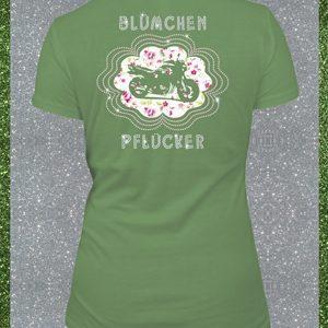 Elfen & Helden Shirt Damen Blümchenpflücker Halbarm