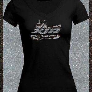 Elfen & Helden Shirt Damen XJR Split Zebra Halbarm