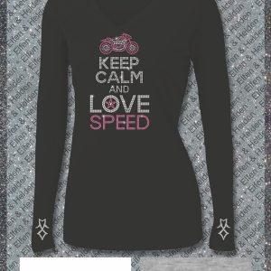 Elfen & Helden Shirt Damen Keep Calm and Love Speed Halbarm