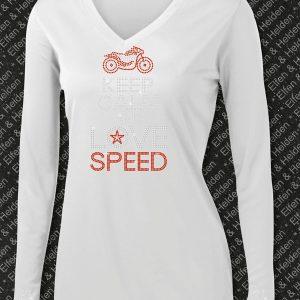 Elfen & Helden Shirt Damen Keep Calm and Love Speed Langarm