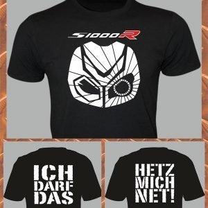 Elfen & Helden Shirt Herren BMW S 1000 R Maske