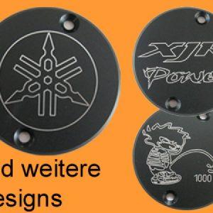 *Motor-Designparts* Crankshaft cover Yamaha black