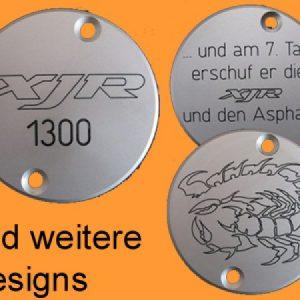 *Motor-Designparts* Crankshaft cover Yamaha silver