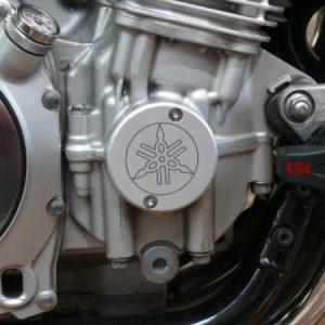 *Motor-Designparts* Kurbelwellendeckel Yamaha silber